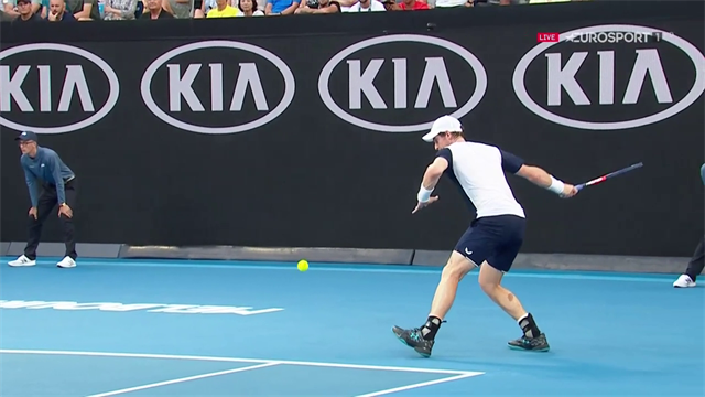 'That's as good a forehand as he's hit in years!' - Vintage shot from Murray
