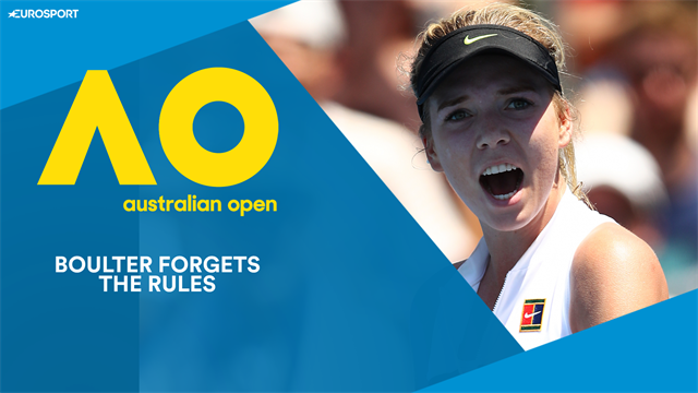 Boulter forgets the rules, but becomes first Brit though to AO second round