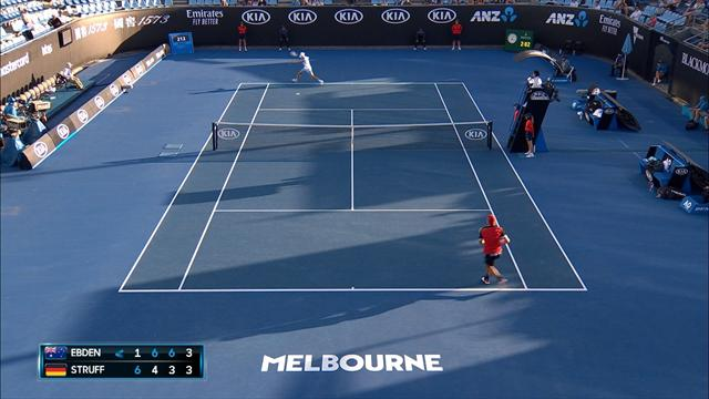 Australian Open: Ebden-Struff 1-6 6-4 6-3 6-4, gli highlights