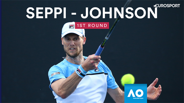 Australian Open: Seppi-Johnson 6-4 4-6 6-4 6-3, gli highlights