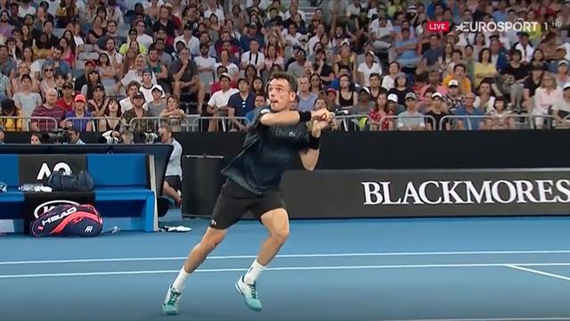 Open Australia 2019: La felina volea de Bautista ante Murray tras llegar a una dejada imposible