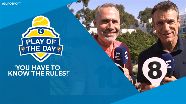 Play of the Day: 'You have to know the rules before a Grand Slam'