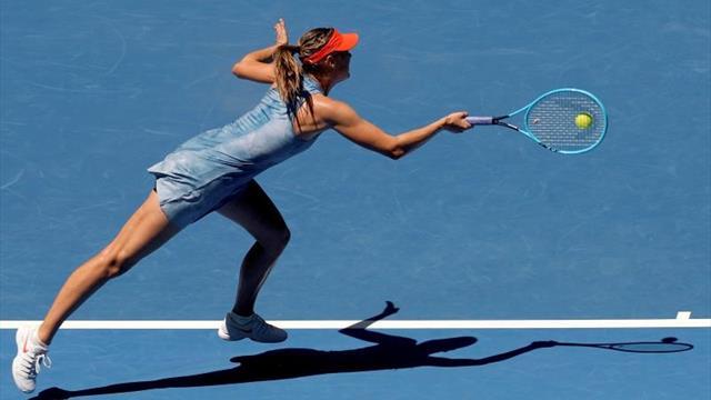 Las favoritas Sharapova, Sabalenka, Stephens y Barty lucen en su estreno