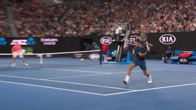 Open Australia 2019: El 'passing shot' perfecto de Federer, ¡qué clase!