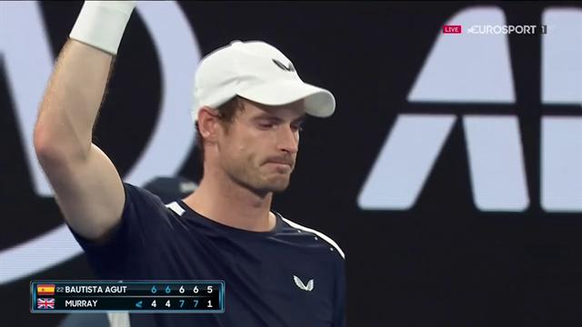 Ovazione per Murray durante il match: un lungo applauso che sa di addio