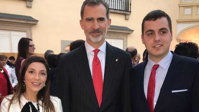 Des stars de l'ERC rencontrent le Roi d'Espagne