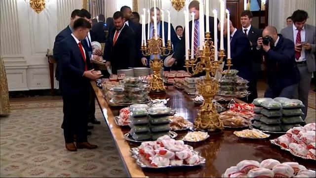 Trump serves up '1,000' Big Macs to NCAA champions at White House