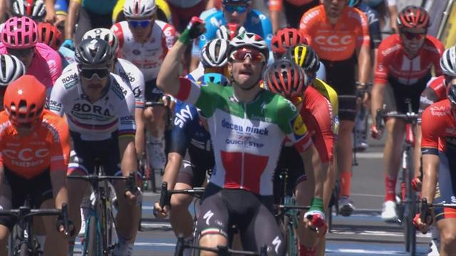 Viviani snatches win in Stage 1 with late charge