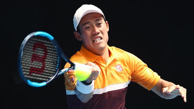 Men's round-up: Nishikori survives scare to set up Karlovic clash