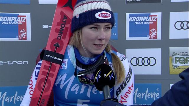 Shiffrin: I was nervous so it was great to win