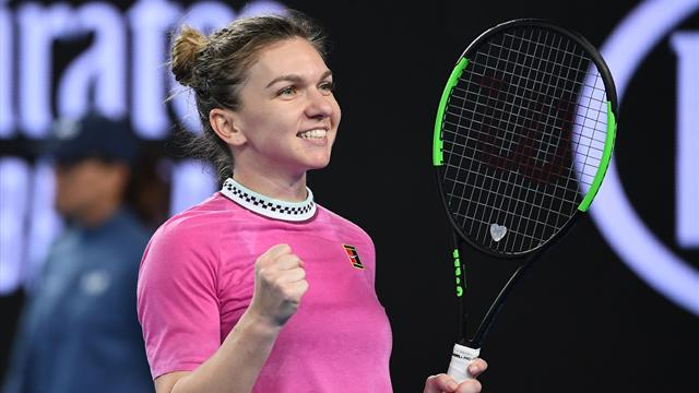 Halep survives Kanepi scare to make it into second round