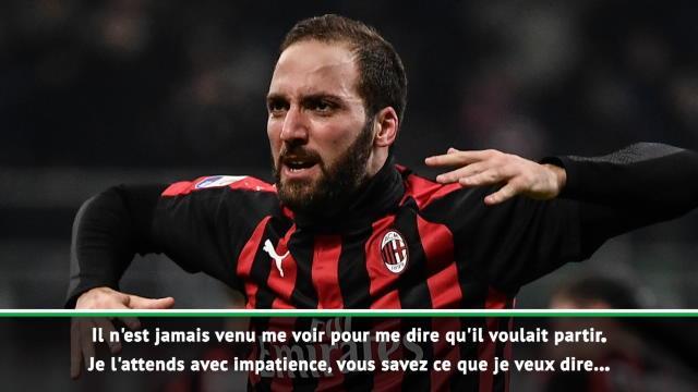 """Milan - Gattuso : """"Higuain est heureux et je veux qu'il joue"""""""