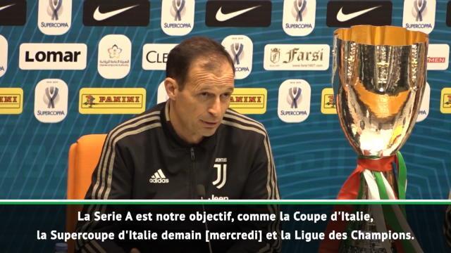 """Juventus - Allegri : """"Gagner le plus de trophées possibles cette saison"""""""