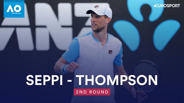 Open Australia 2019: Thompson-Seppi, vídeo resumen del partido
