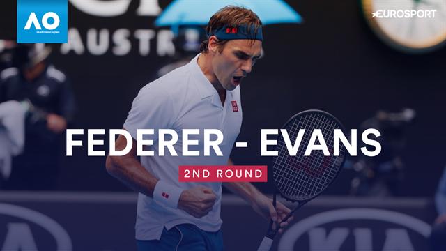 Highlights: Federer progresses despite two tie-breaks against Evans