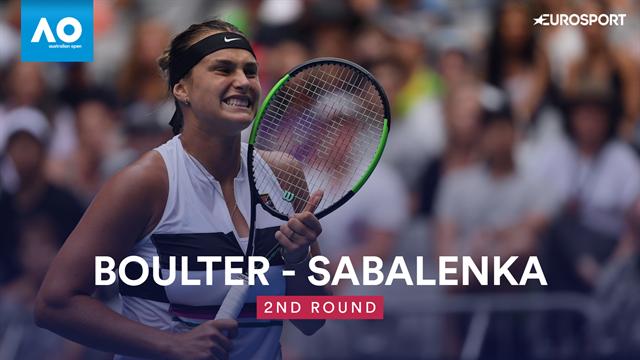 Open Australia 2019: Boulter vs Sabalenka , vídeo resumen del partido