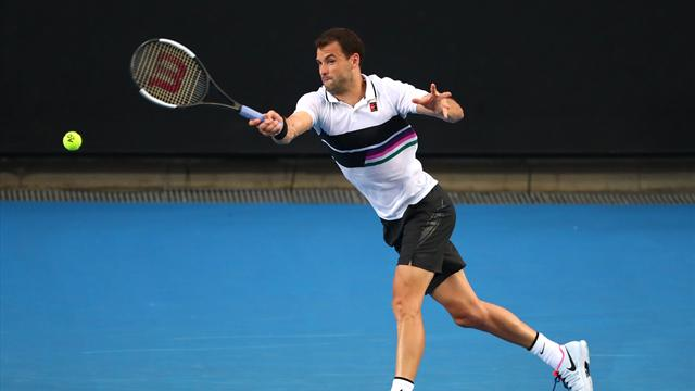 Dimitrov fights to come through in four sets against Cuevas