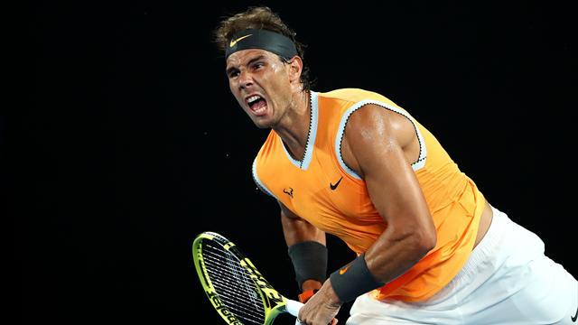 33 coups gagnants 7 jeux concédés 1h56 de match: c'était du bon Nadal
