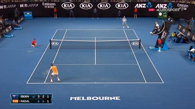 Open Australia 2019: Inapelable 'banana-shot' de Nadal ante Ebden