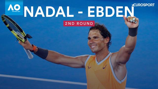 Open Australia 2019, Ebden-Nadal: Ciclón Rafa (3-6, 2-6 y 2-6)