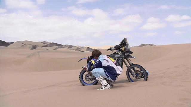 Van Beveren cries alone in desert after engine breakdown