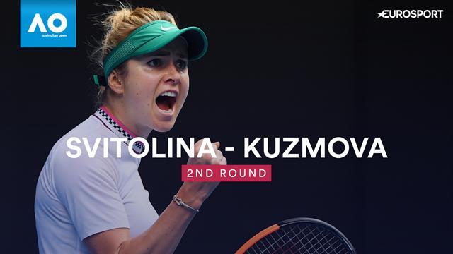 Australian Open: Svitolina-Kuzmova 6-4 6-1, gli highlights