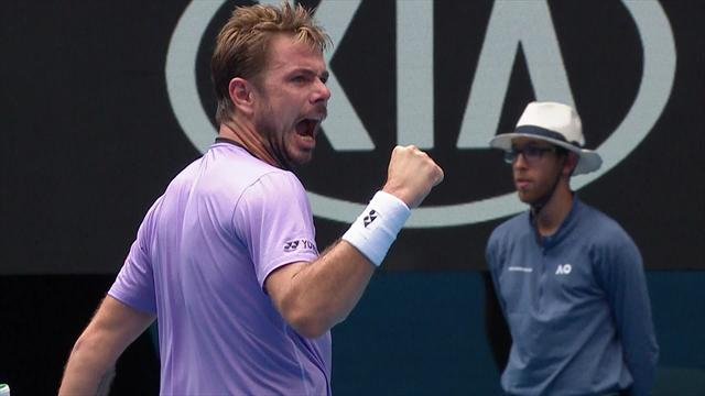 'He steals the point!' - Wawrinka shows incredible anticipations to break Raonic