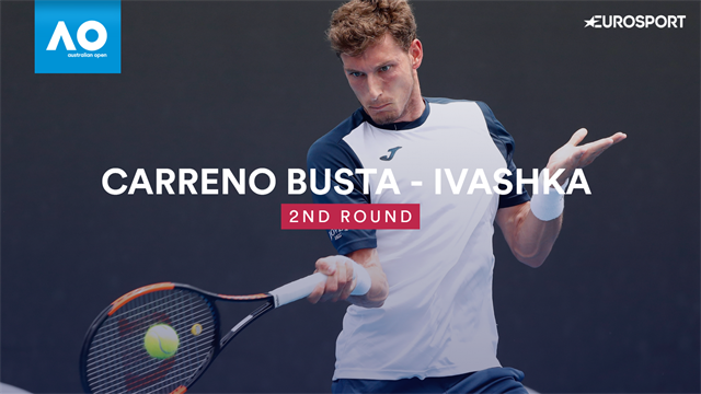 Australian Open: Carreno Busta-Ivashka 6-2 6-3 7-6, gli highlights