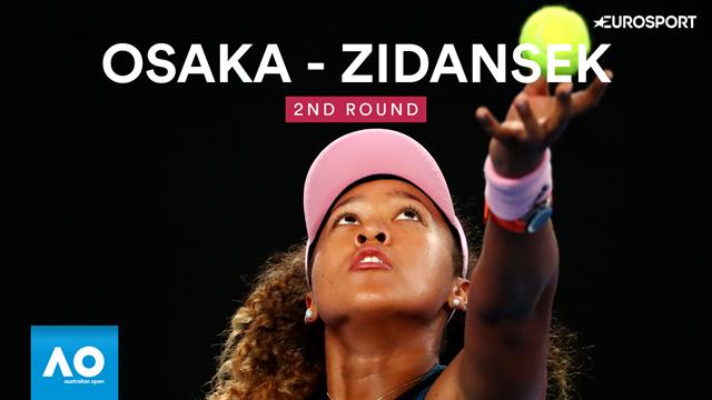 Australian Open: Osaka-Zidansek 6-2 6-4, gli highlights