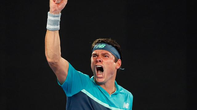 Raonic wins three tie-breaks to knock out former champion Wawrinka