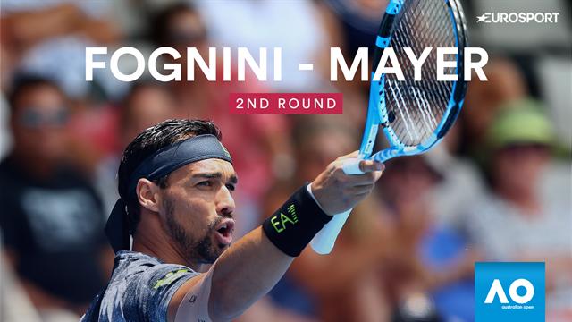 Australian Open, eliminato l'italiano Fabio Fognini