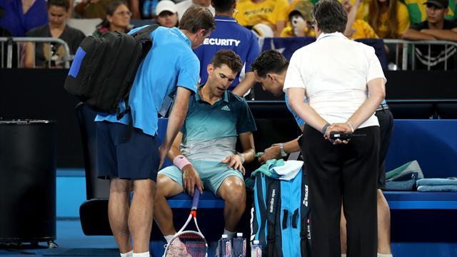 Men's round-up: Thiem crashes out to wildcard, Zverev survives five-set thriller