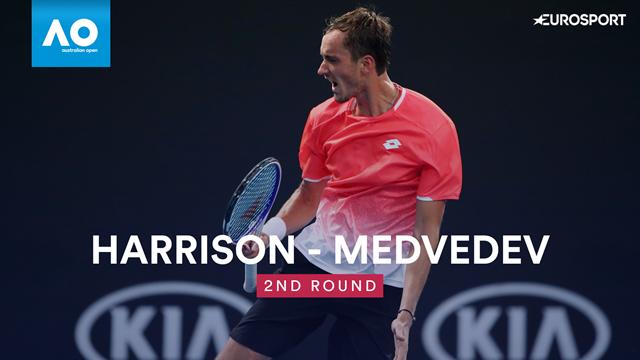 Open Australia 2019: Harrison vs Medvedev, vídeo resumen del partido