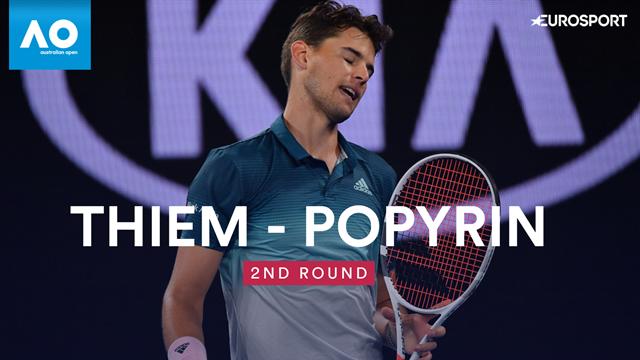 Open Australia 2019: Popyrin vs Thiem, vídeo resumen del partido