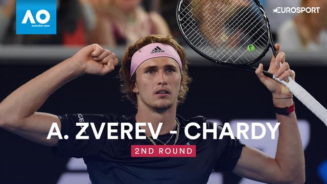 Open Australia 2019, Zverev vs Chardy: Vídeo resumen del partido