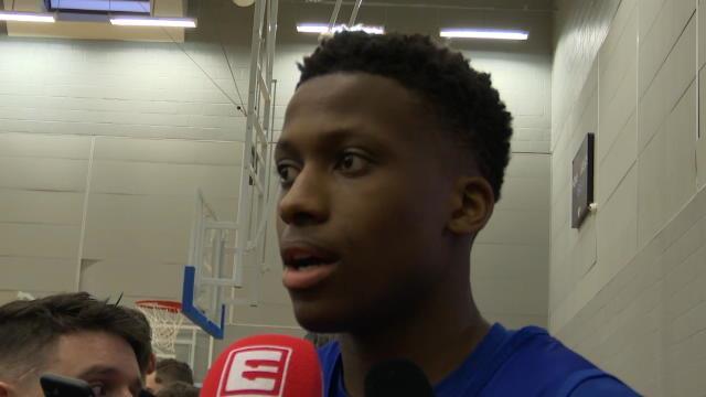 """NBA - Ntilikina : """"Ce serait un honneur de jouer avec le maillot de l'équipe de France"""""""