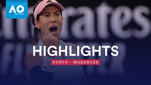 Spätestes Spiel aller Zeiten: Muguruza schlägt Konta nach 3 Uhr nachts