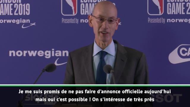 NBA - Adam Silver confirme que la NBA pourrait venir à Paris l'an prochain !