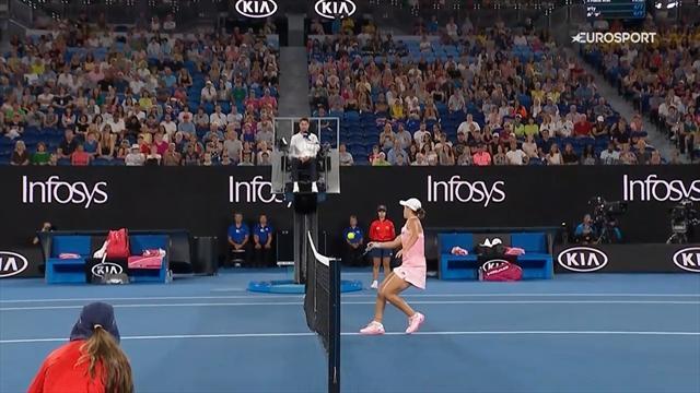 Open Australia 2019: El sutil toque de Ashleigh Barty que dejó a su rival con cara de póquer