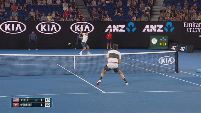 Open Australia 2019: Lección magistral de revés de Roger Federer