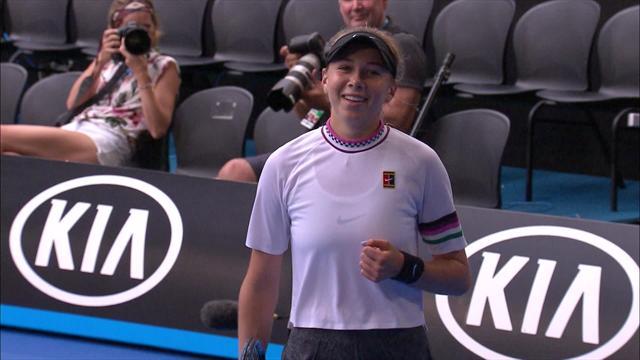 Open Australia 2019: Increíble punto de la joven Anisimova... ¿El mejor del torneo?
