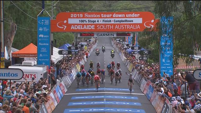 Daryl Impey claims Stage 4 of Tour Down Under in bunch sprint