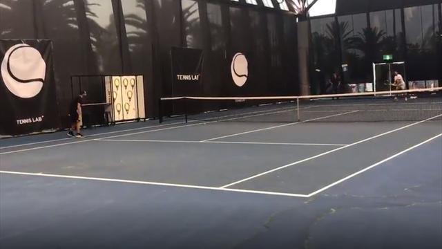Open Australia 2019: El último entrenamiento de Nadal antes de enfrentarse a De Miñaur