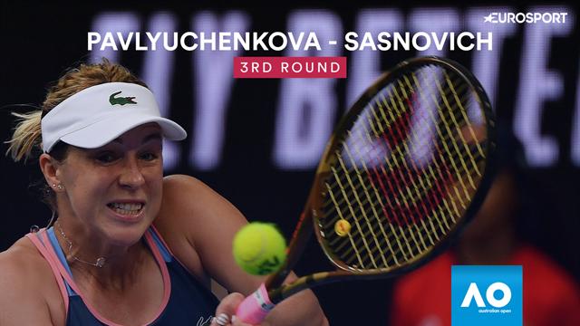 Open Australia 2019: Pavlyuchenkova-Sasnovich, vídeo resumen del partido