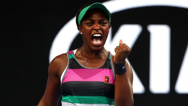 Stephens overcomes valiant Martic challenge in two tie-breaks to reach last 16