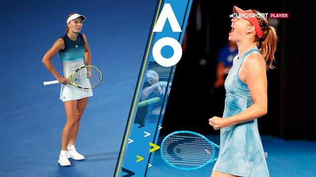 Highlights: Wozniacki kunne ikke stå imod Sharapovas raketforhånd i 144 minutters drama
