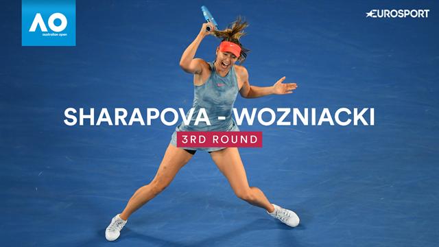 Main gauche, cadence folle, prise de risque : Sharapova a tout tenté pour sortir Wozniacki