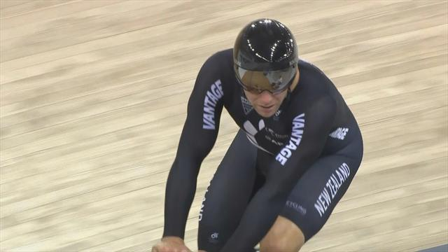 New Zealand dominate in men's team sprint at Cambridge Track World Cup