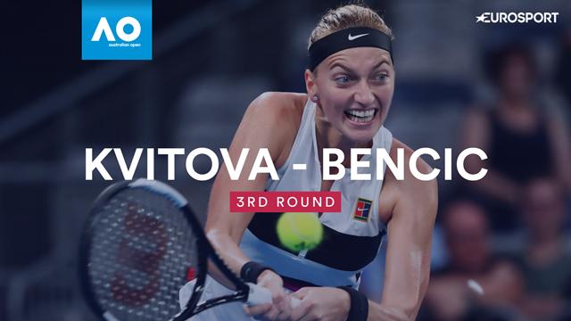 Highlights - Kvitova demolishes Bencic to reach fourth round