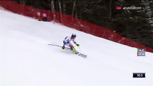 """Deuxième du slalom, Pinturault a seulement cédé 0""""2 à Schwarz"""